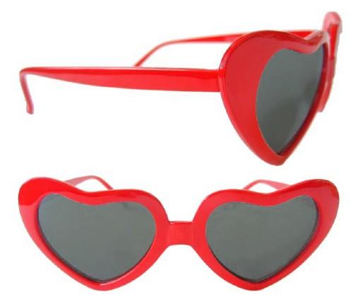 Okulary w kształcie serca