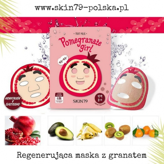 SKIN79 Fruit Mask - Pomegranate Girl; Regenerująca maska z granatem