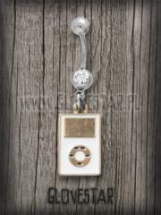 kolczyk do pępka ELEKTROTECHNIKA iPod biały