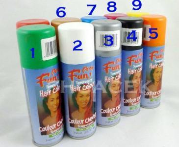 Farba do włosów w sprayu spray 9 kolorów NIEBIESKA