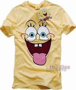 Kremowa koszulka SpongeBob