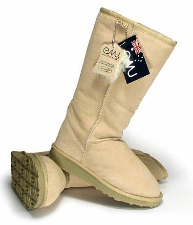 Buty EMU beżowe