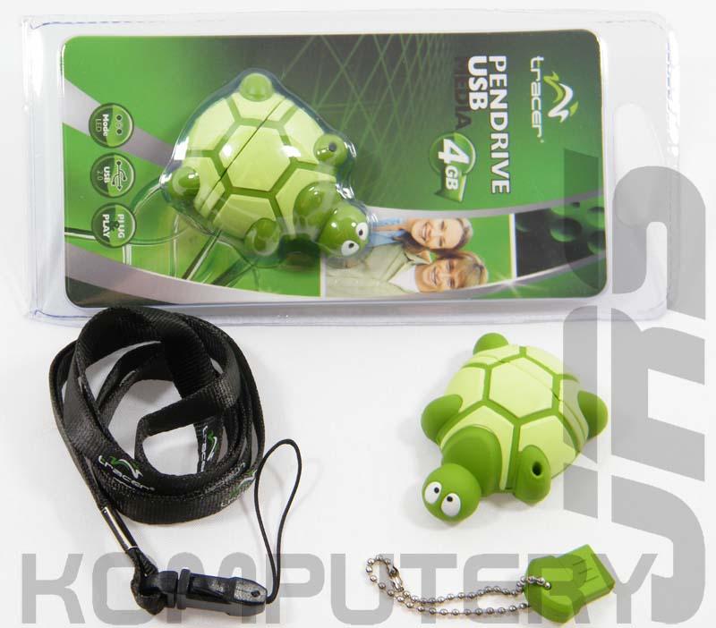 pendrive żółw zielony