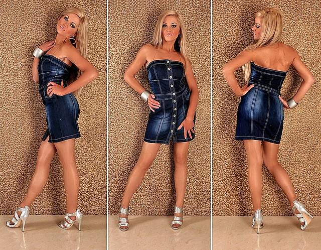 Wygodna jeansowa sukienka Redial