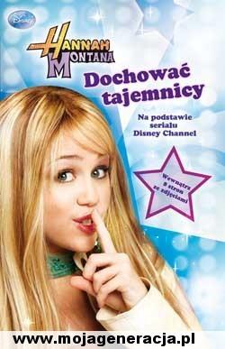 Książka Hannah Montana 'Dochować tajemnicy' na podstawie serialu 'HM'. Disney Channel.