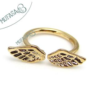 Pierścionek złoty srebrny skrzydła  PROMOCJA !!!