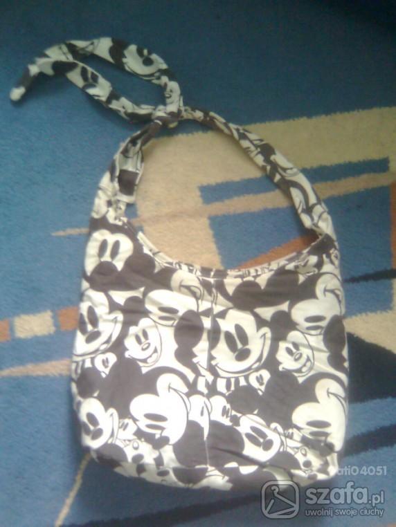 torba myszki miki czarno-biała