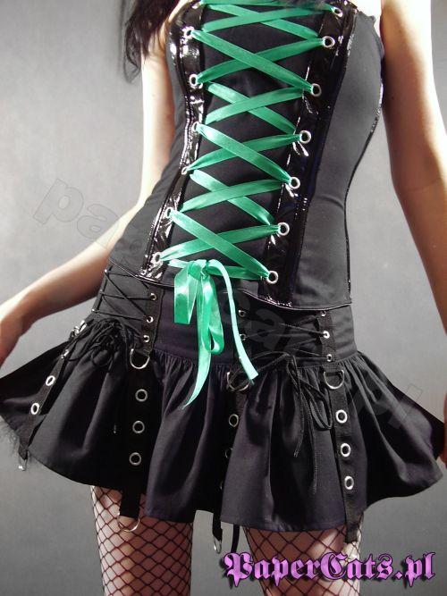 Czarna spódniczka z PaperCats