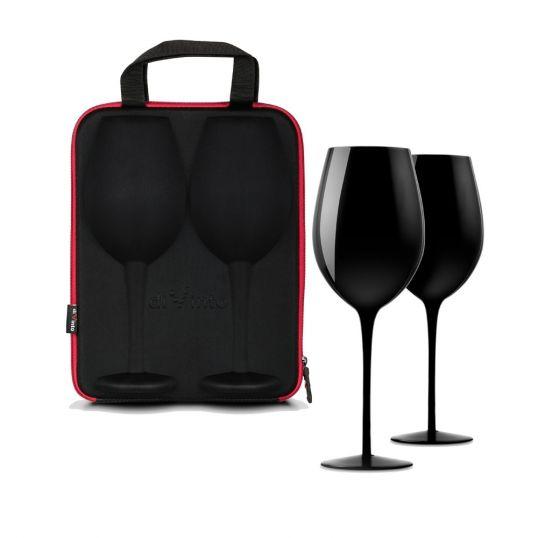 Etui podróżne z kieliszkami do wina