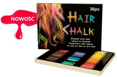 Kreda , farba do włosów 36 kolorów +  GRATIS !!!
