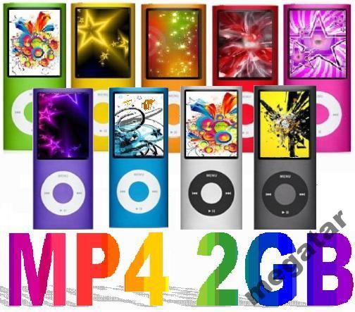 Odtwarzacz Mp4 Mp3 pamięć 2GB PL FM Super Cena