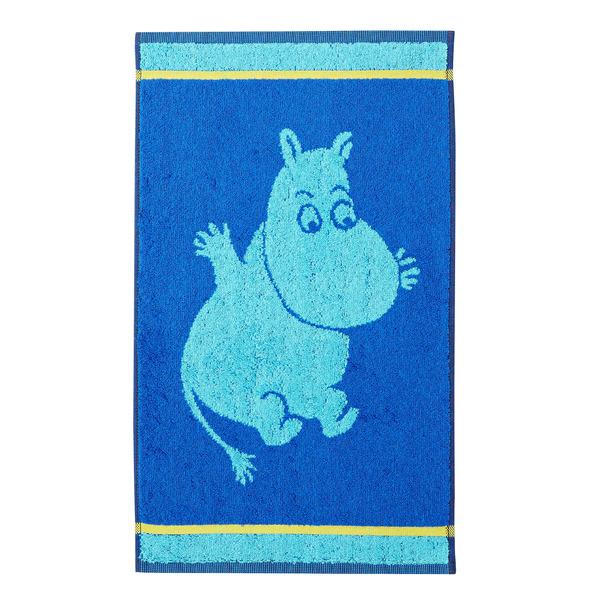 niebieski ręcznik Muminem 30x50