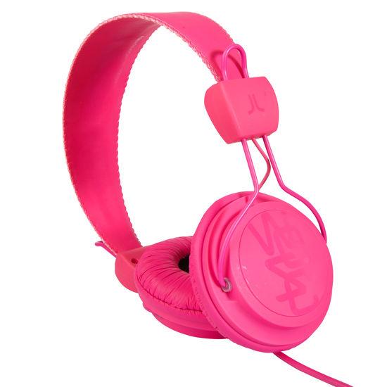 Różowe słuchawki nauszne