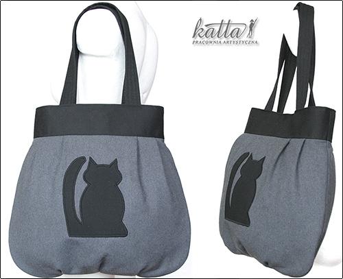 Poręczna torba z kotami