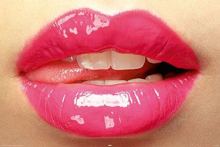 Plakat : Duże Różowe Usta