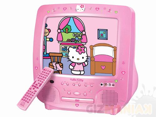 telewizor hello kitty różowy