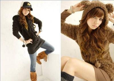 Japan Style Bluza Miś Uszka Kaptur Blogerek HIT!!!