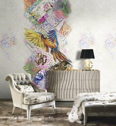 egzotyczny, kolorowy motyw tapety