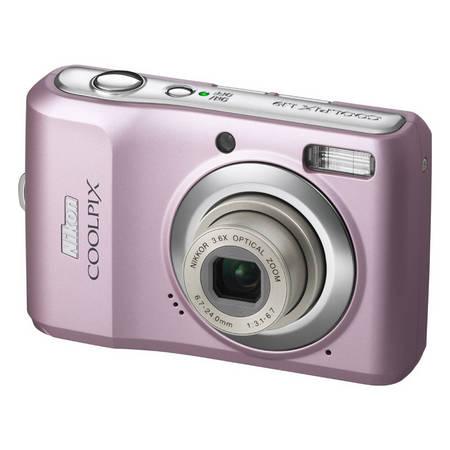 Różowy aparat cyfrowy