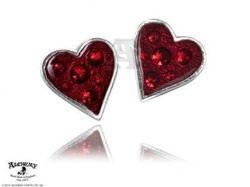 Kolczyki hearts blood