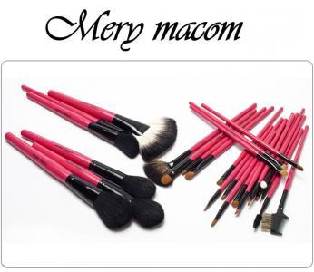 Mery Macom Pędzle do makijażu Etui 26 GOLD-NEW !!