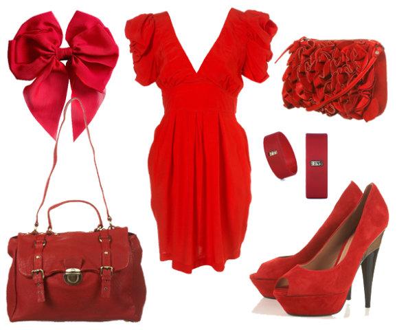 Jakieś czerwone ubranie..
