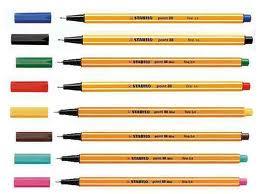 Cienkopisy kolorowe..