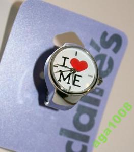 CLAIRE'S pierścionek zegarek serce japan style