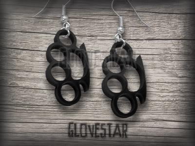 glovestar KOLCZYKI KASTETY punk rock emo kastet (712145671) - Aukcje internetowe Allegro