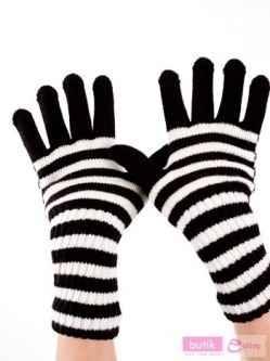 Supeeerowskie rękawiczki w paski