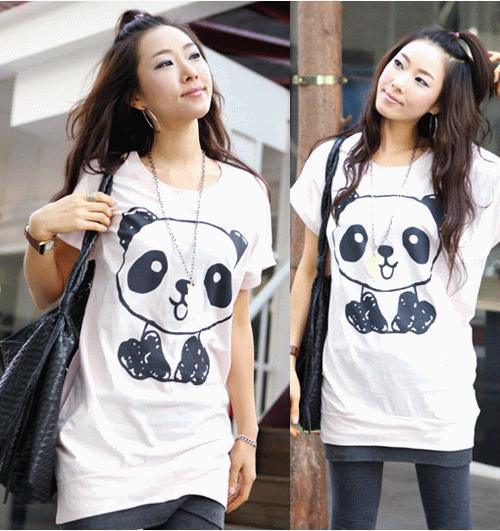Biała tunika z pandą