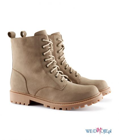 militarne zamszowe buty damskie
