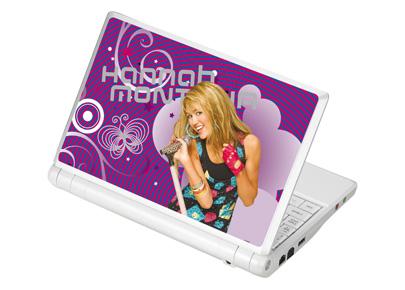 Naklejka na laptopa z HANNY MONTANY !