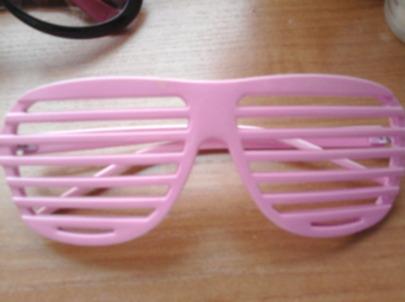różowe okulary żaluzje