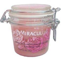 Miraculum, La Rose, Różany peeling cukrowy do ciała z pestkami róży