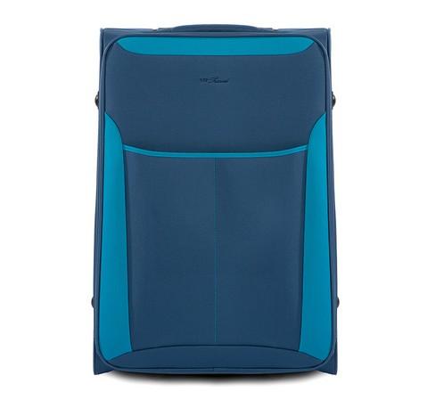 Niebieska walizka podróżna
