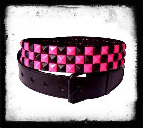 Szachownica czarno/ciemno różowa