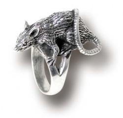 pierścień ze szczurkiem