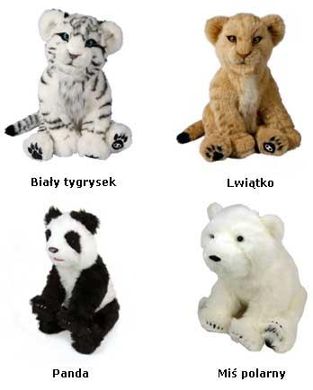 Robomaluchy Alive cubs - biały tygrysek