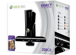 Xbox 360 Slim 250GB + Kinect + Kinect Adventures