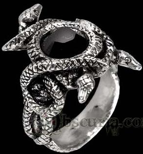 Nigrum Serpintis Ring