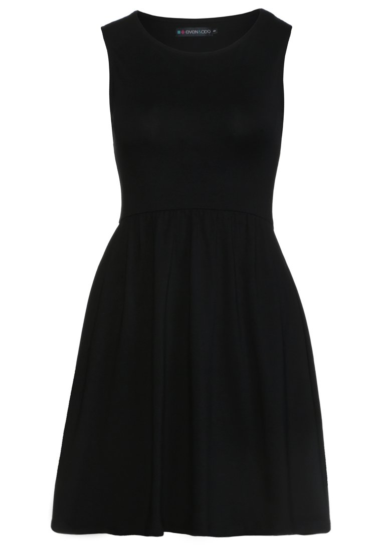 Czarna sukienka z dżerseju Even&Odd