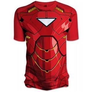 Marvel  Iron Man 2 Comic Chest  t-shirt L