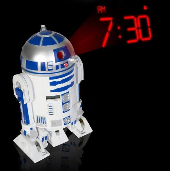 Star Wars - Zegar z projektorem R2D2