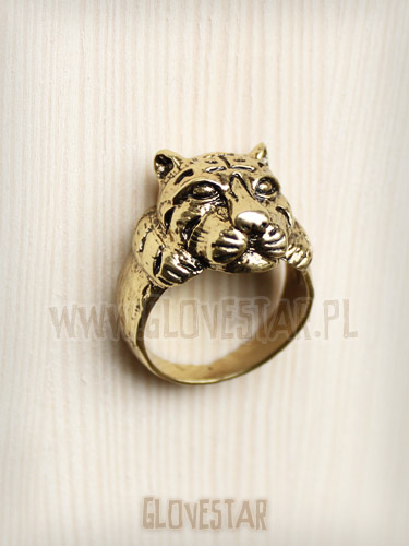 pierścionek TYGRYS złoto