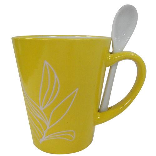 Kubek z Łyżeczką Żółty