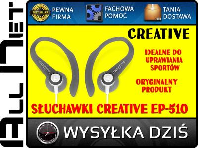 SŁUCHAWKI SPORTOWE CREATIVE EP-510 ORYGINALNE Dziś