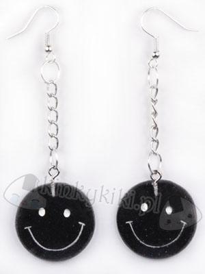 Kolczyki Smiley (czarne)