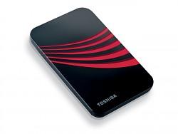 Dysk Toshiba 2,5' 250GB, 5400RPM, USB 2.0, 8MB cache, zewnętrzny, czerwony