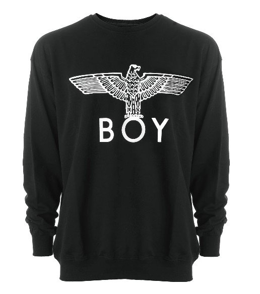 Czarna bluza BOY